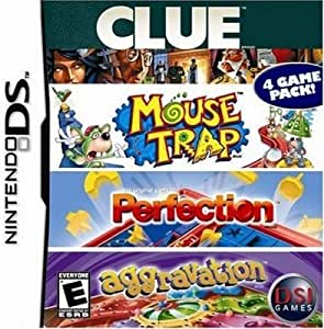4 Game Fun Pack - Clue/Mouse Trap/Perfection/Aggravation Game DS [Importación Inglesa]: Amazon.es: Videojuegos