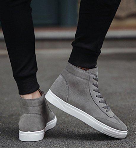 CHENGYANG Herren Warm Gefüttert Winter Stiefel Schnür Boots Schneestiefel Outdoor Freizeit Schuhe Grau#26