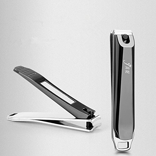 Expert Grip Nail - Nail Clippers for Fingernails & Toenail,Best Sharp Stainless Steel Clipper for Men & Women,with hole for key chain, portable for everyday multi-propose use (Small+Large)