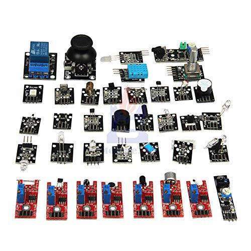 1 で 37 センサーキット arduino のラズベリーパイ初心者センサーモジュール学習スーツ究極トップ品質センサーモジュールキット