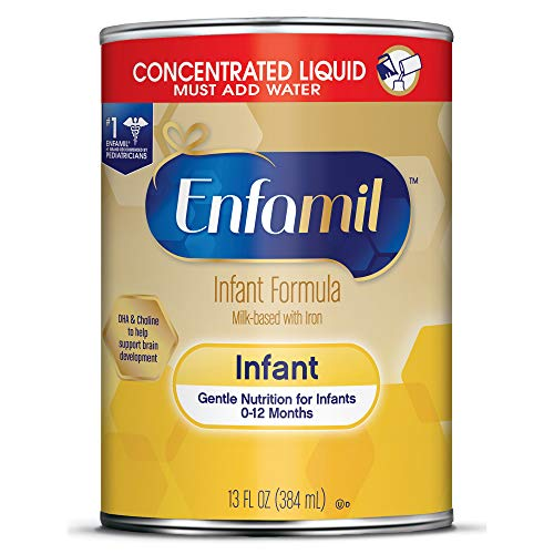 Enfamil Gentle Baby Formula Milk Powder, 21.1 ounce (Pack of 4) - Omega 3, Probiotics, Iron, Immune & Brain Support