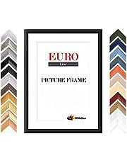 EUROLine35 cornice foto misure speciali, cornice in legno MDF realizzata su misura, completa di vetro acrilico antiriflesso e pannello posteriore in MDF, larghezza cornice: 35 mm