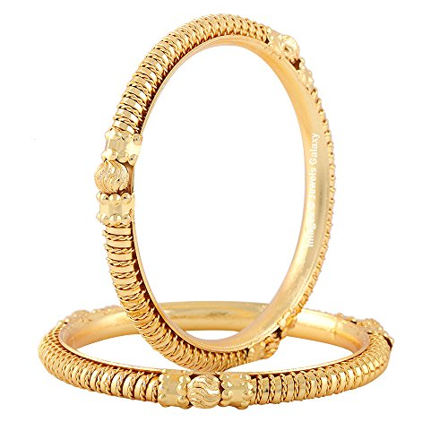 Jewels Galaxy Exclusive Traditional Gold Plated Bangles   Set of 2