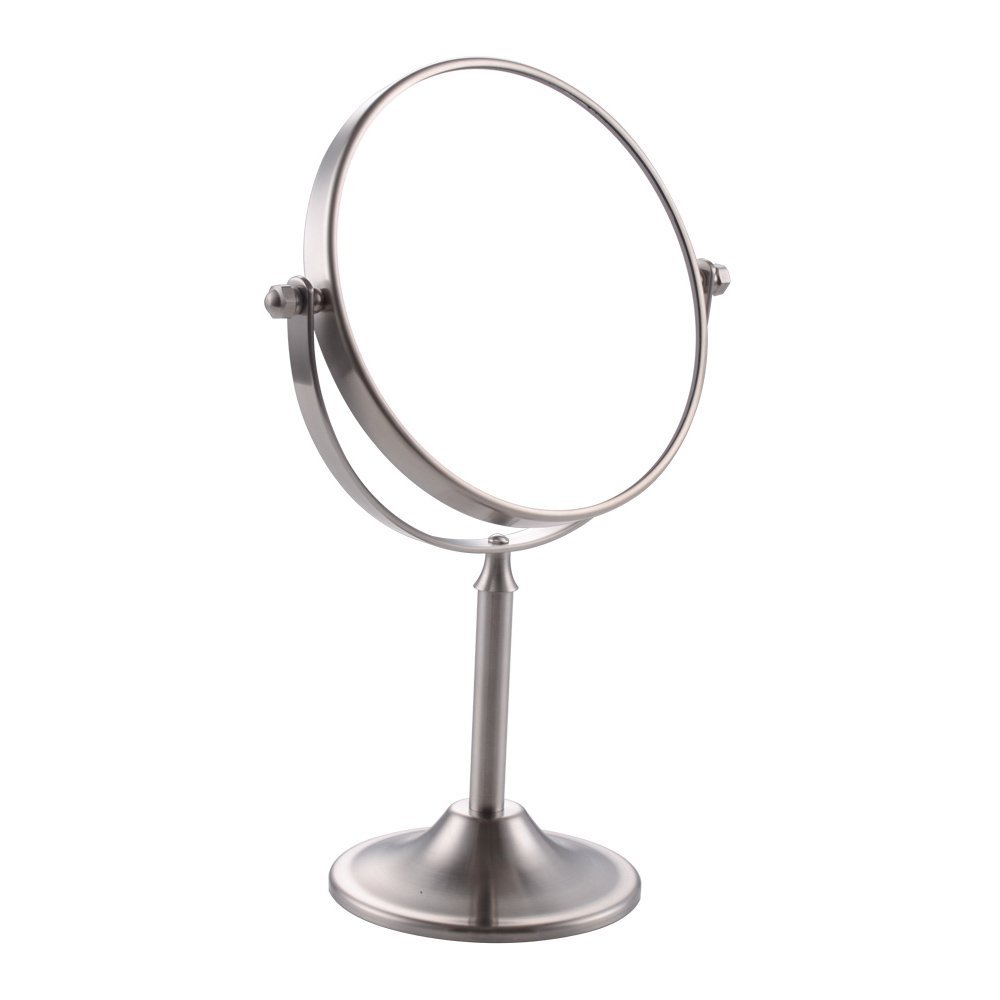 KES SUS 304 Stainless Steel 8x Magnification Two-Sided Swivel Tabletop Counter Top Mirror 6-Inch Brushed Finish, BTM200S6M8-2