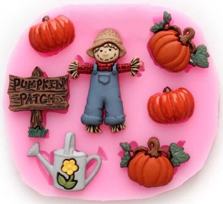 Allforhome(TM) Silicone Pumpkin Halloween Cake Fondant Mold Candy Mold Cake Decorating Mould