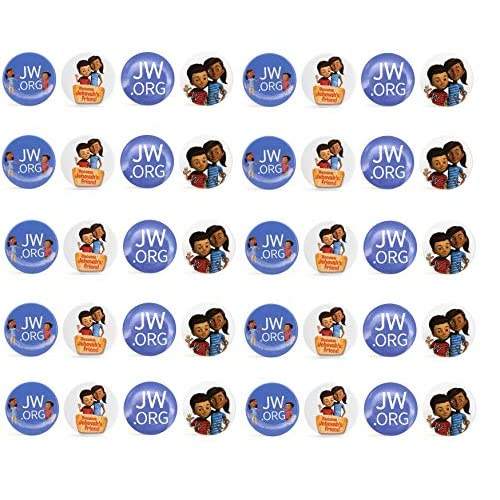 Kids JW ORG Buttons Jehovah's Witnesses Button Perfect Present for Jw org  Sophia Caleb Buttons Mixed-40 Pack