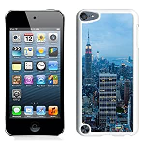 Beautiful Unique Designed iPod Touch 5 Phone Case With New York City Blue Dusk_White Phone Case