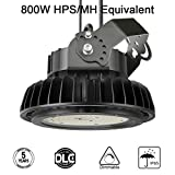 Adiding LED High Bay Light,UFO Hi-Bay Lighting 130Lm/W LIFUD Driver Dimmable 5000K, SAMSUNG LED for Garage Gym Workshop Warehouse,ETL Listed (200W-26,000 Lumens-130lm/W Rotatable Bracket)