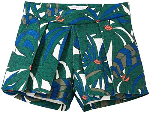 Little Marc Jacobs Canvas Shorts Allover Printed, Green Beige, 10A by Little Marc Jacobs