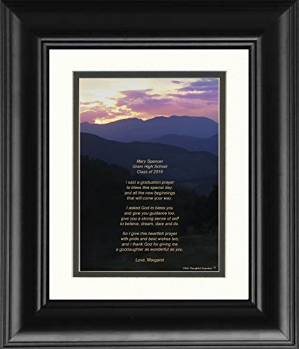 """Framed Personalized Goddaughter Graduation Gift with """"God..."""