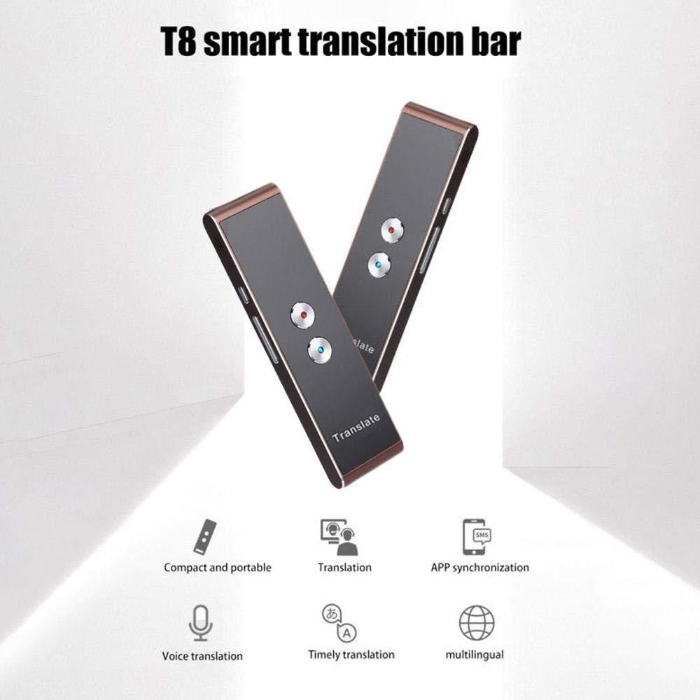 Tenlso Traductor de Voz Portátil Inteligente, Traductor Multiidioma Instantáneo con WiFi y Tráfico de Datos Traducción en Tiempo Real Compatible con 39 ...