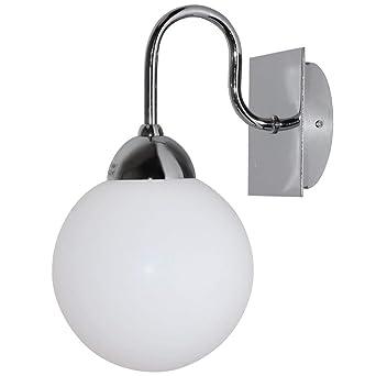 Applique design salle de bains miroir boule spot chrome salon lampe ...