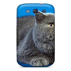 MDLCases Perfect Tpu Case For Galaxy S3/ Anti-scratch Protector Case (brithis Gray Cat)