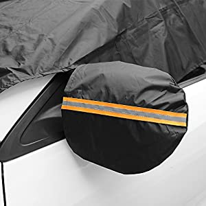 Car Windshield Snow Cover With Magnetic Edges With Mirror Snow Cover Snow Ice Frost Screen Windshield Cover Car Window Cover for Snow Premium Proper Size Fit for Universal Vehicle Yoobure
