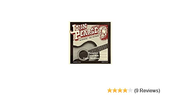 John Pearse Guitar Strings Acoustic Silk Wound Phos Bronze #610LM