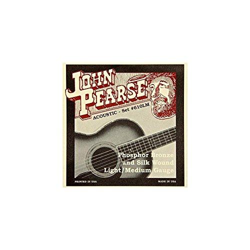 - John Pearse 610 LM Strings Silk Phos Bronze Acoustic Strings, Med-Light