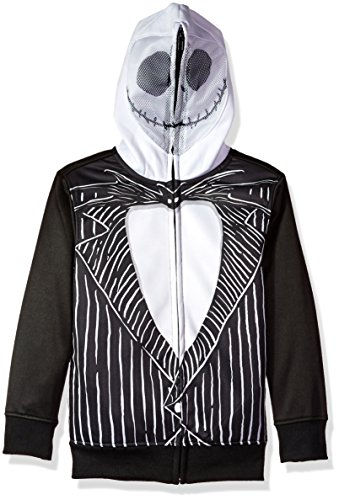 (Disney Big Boys' Nightmare Before Christman Jack Skellington Costume Hoodie, black/white,)