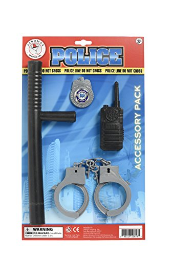 [Aeromax Police Officer Accessory Set] (Emergency Services Fancy Dress Costumes)