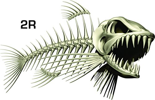 Fish decals for boats for Fish skeleton decal
