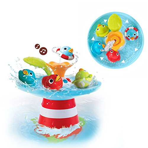 Bath Toy - Musical Duck Race with Auto Fountain, Water Pump, and 4 Racing (Duck Bath Toy)