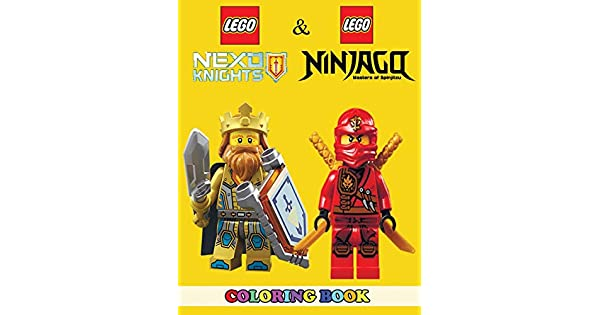 Amazon.com: Lego Nexo Knights and Lego Ninjago Coloring Book ...