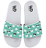 Cartoon Cool Cat With Sunglasses Summer Slide Slippers For Boy Girl Outdoor Beach Sandal Shoes size 3