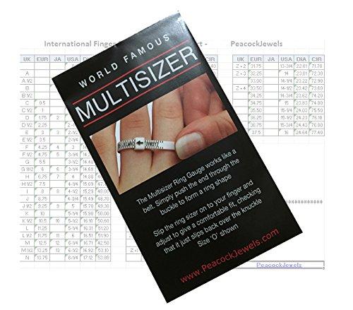 Peacock, calibro per anelli (taglie A-Z Regno Unito)/Multitaglia, misura anelli economico per uomini e donne, controlla la tua taglia degli anelli a casa Peacock Jewels 2_x_UKRingSizerGauge