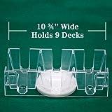 Brybelly 9 Deck Rotating/Revolving Card Tray