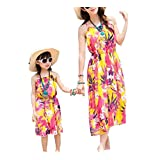 Set of Mother Daughter Beach Bohemia Style Dress Family Dress