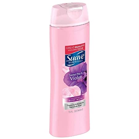 Suave Naturals Body Wash Sweet Pea and Violet 15 oz Pack of 10