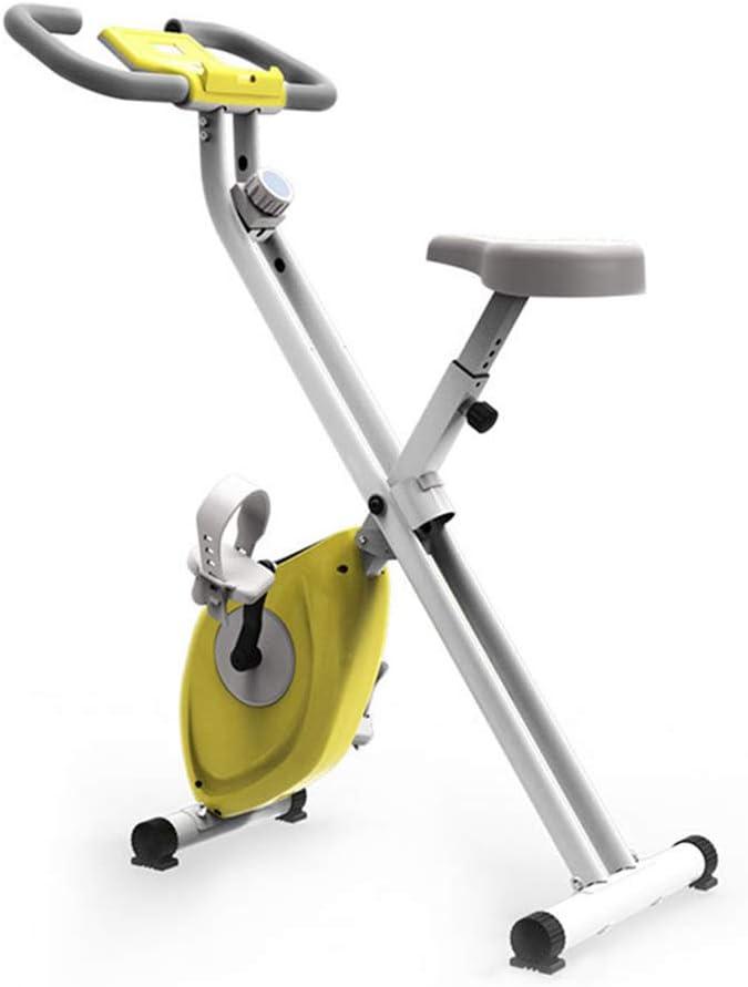Bicicleta Estática Plegable, para Ejercicios En El Hogar, Equipo Deportivo, Equipo para Adelgazar Adelgazar Bicicleta De Entrenamiento para El Hogar, Blanco Amarillo: Amazon.es: Hogar