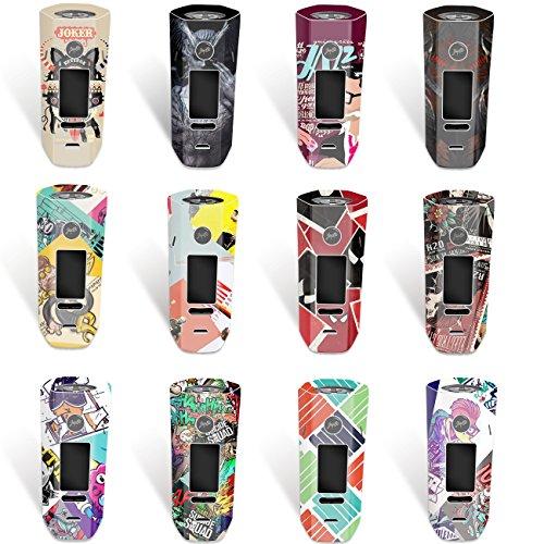 DIY-24H – Aufkleber für Wismec Reuleaux RX 2/3 Akkuträger, Mod, Skin, Wrap, Sticker, Schutzfolie laminiert (NO. 12)