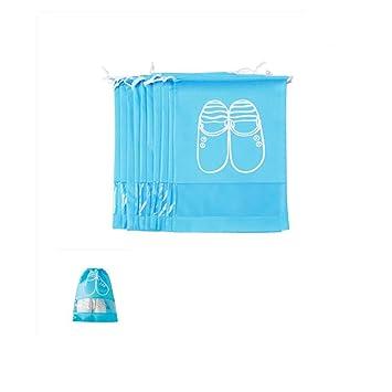 No Zapatos Bolsas Pack Tejidas Para Impermeable Con Bolsa Telas 10 pwUBaqx