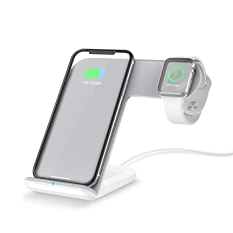 factory price 6c844 9eb4b Amazon.com: Outsta for Apple Watch 4 for iPhone Xs/XS MAX/XR Qi ...