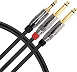 Livewire Elite Interconnect Y-Cable 3.5 mm TRS Male to 1/4' TS...