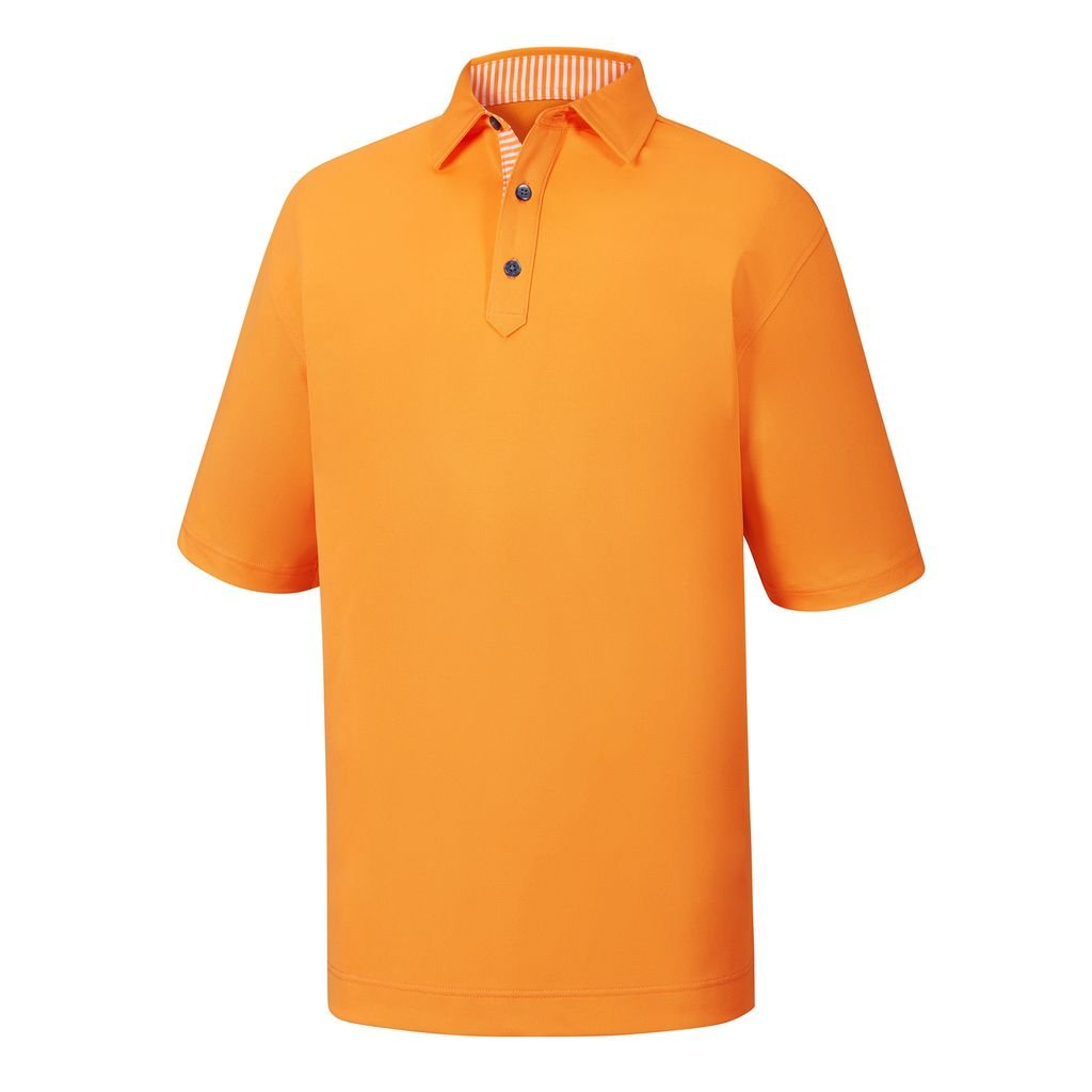 Para hombre FootJoy Stretch Pique Self cuello camiseta, Melon ...