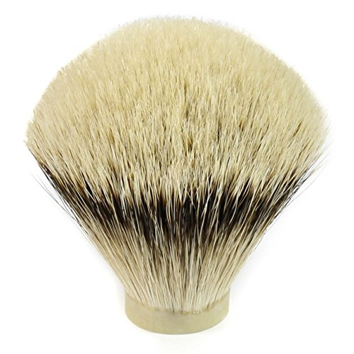 High Mountain White Badger Hair Shaving Brush Knot (24mm x 68mm)