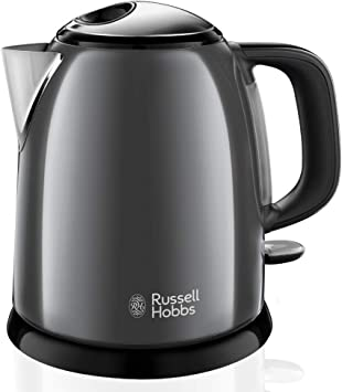 Russell Hobbs Colours Plus - Hervidor de Agua Eléctrico Pequeño (2400 W, Hervidor de 1l, Kettle...