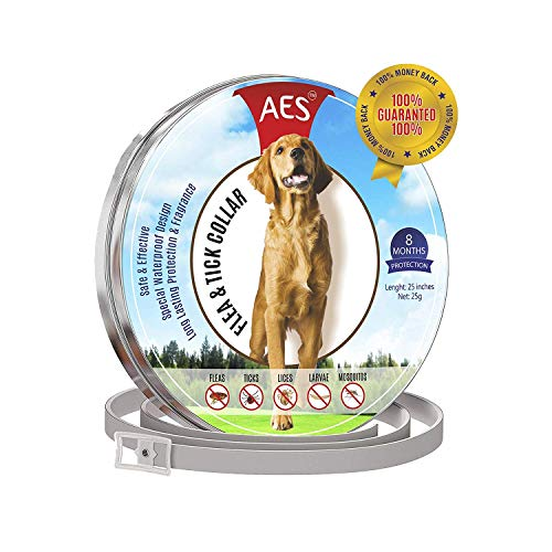 Flea and Tick Collar for dogs - Prevention Essential Oil for Pets / Control 8 month protection ()