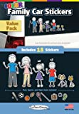 Color Cool Family Car Stickers - Compact Value Pack - contains 18 stickers