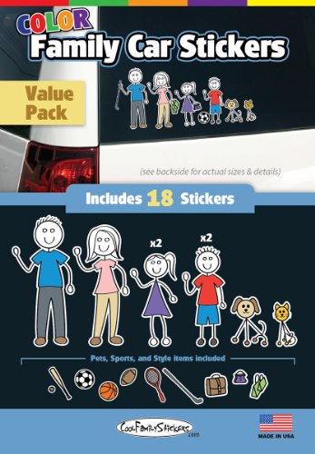 WMI Designs (12051) Color Accent Family Stickers Compact Kit (18)