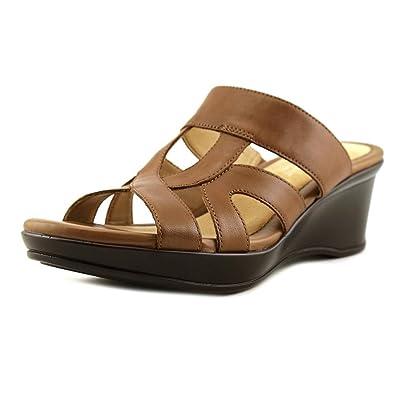 68c9c02847 Naturalizer Women's Vanity Slide,Saddle Tan Leather,US 7.5 N