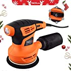 【Christmas Selection】Tacklife 5-Inch Classic Random Orbit Sander, Sturdy Dust Container, 6 Variable Speed