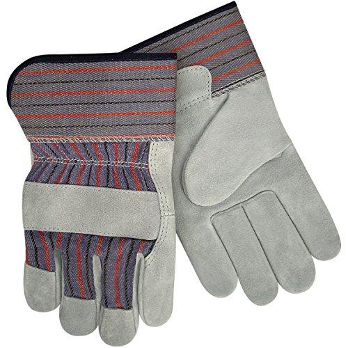Steiner SPC12-M Leather Palm Work Gloves, Slightly Select Shoulder Split Cowhide, 2-Inch Cuff, Medium (12-Pack) ()