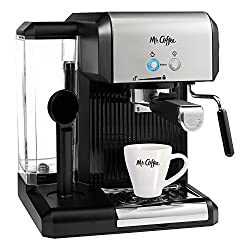 Mr. Coffee Café 20-Ounce Steam Automatic Espresso and Cappuccino Machine, Silver/Black made by Mr. Coffee