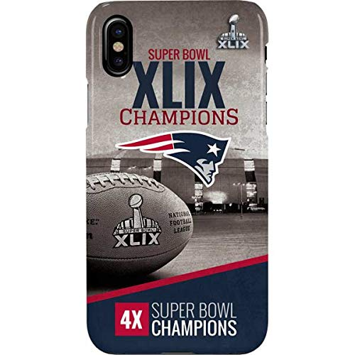 newest 72125 7da00 New England Patriots iPhone Xs Max Case - NFL | Skinit Lite Case -  Ultra-Thin, Lightweight iPhone Xs Max Cover