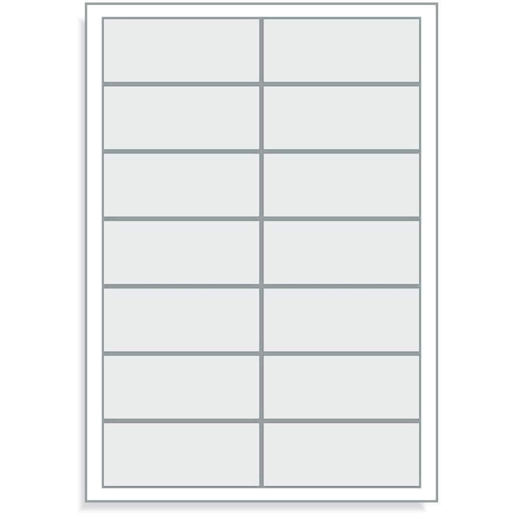 Adress Etiketten 1400 Stk Labels 100 DIN A4 Bogen /à 2x7 95x40 Adressetiketten 95 x 40 mm wei/ß blanko selbstklebend