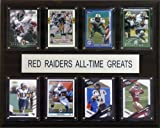 NCAA Football Texas Tech Red Raiders All-Time Greats Plaque
