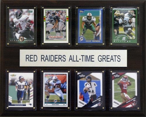 NCAA Football Texas Tech Red Raiders All-Time Greats Plaque (Tech Red Framed Raiders Texas)