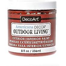 DecoArt Americana Decor Outdoor Living Paint fire pit 8 oz. [PACK OF 3 ]